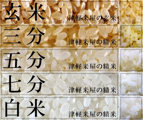 津軽米屋の玄米と精米